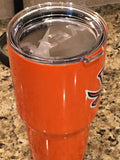 Virginia YETI Rambler Tumbler 20oz/ 30oz Orange-University of Virginia Cavaliers- Powder Coated