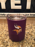 Custom Powder Coated YETI Rambler Lowball in Deep Purple Matte with Minnesota Vikings Decal.. Includes Accessory Lid - That's My Yeti