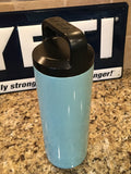 Tiffany YETI Rambler Bottle-18oz/36oz Powder Coated Gloss Tiffany Blue Sparkle!