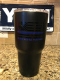 Custom YETI Rambler Tumblers/Bottles Powder Coated-Blue Lives Matters-Back the Blue! - That's My Yeti