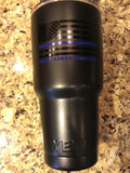Custom YETI Rambler Tumblers/Bottles Powder Coated-Blue Lives Matters-Back the Blue!