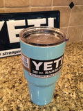 Custom YETI Rambler Tumblers or Bottles in Tiffany Blue- Powder Coated..Hot Seller - That's My Yeti