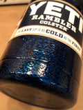 Hard Candy Blue Custom YETI Rambler Colster-Powder Coated-Hammered Steel Texture