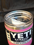 Satin Pink Yeti Rambler Lowball 10oz with Yeti lid! Colster Available too!