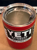 Sparkle Red Yeti Rambler 20oz-ALL SIZES AVAILABLE-Powder Coated-Glitter Yeti