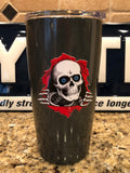 SKULL YETI Rambler Many Sizes-Powder Coated-SKULL Crossbones-RIP
