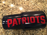 Patriots YETI Ramblers-ALL SIZES-Gloss Navy Blue-New England Patriots Logos!
