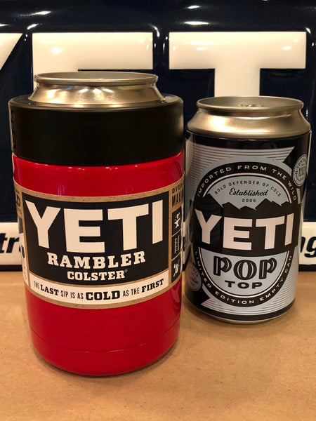Red YETI Rambler Colster-Pop Top-Powder Coated!!