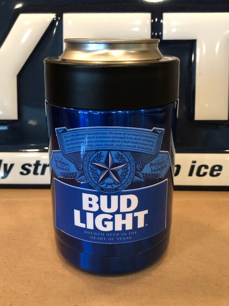 BUD LIGHT YETI Rambler Colster-Powder Coated Candy Blue ALL SIZES AVAILABLE