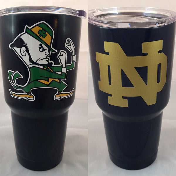 Notre Dame YETI Rambler Tumbler Powder Coated in Satin Navy-Notre Dame Fighting Irish