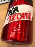 Tecate YETI Rambler ALL SIZES-Powder Coated Candy Red-Custom Tecate Logo