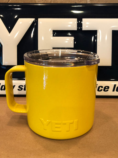 Yellow YETI Rambler Camp Mug-ALL SIZES Available-Powder Coated Yellow