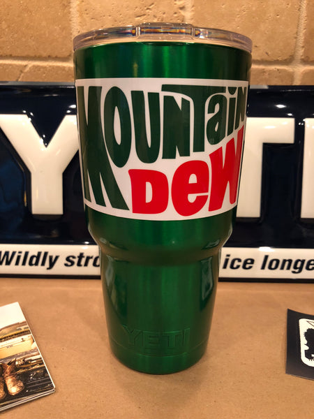Mountain Dew YETI Rambler 30oz w/Lid-Green Candy-Powder Coated-ALL SIZES