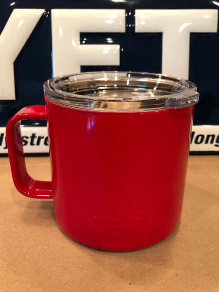 Gloss Red YETI Rambler Camp Mug-ALL SIZES Available-Powder Coated-Gloss Red