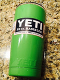 Custom YETI Rambler Tumbler Powder Coated in Lime Green Gloss-Too Cool!! - That's My Yeti