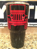 Jeep YETI Rambler Tumbler 30oz - Powder Coated with JEEP logo in your choice of colors!