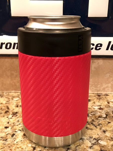 Custom YETI Rambler Colster Bottle/Can Beverage Holder in NEW  Red Carbon Fiber - That's My Yeti
