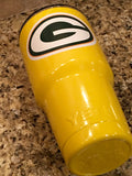 Custom Powder Coated YETI Tumbler - All sizes available --Green Bay Packers in Yellow - That's My Yeti