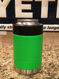 Yeti Colster in Custom Neon Green Satin - That's My Yeti
