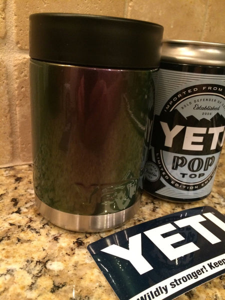 YETI Rambler Colster in CHAMELEON Pearlescent Purple Green Color Swap