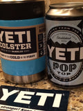 YETI Rambler Colster in Custom Bahama Blue Gloss - That's My Yeti