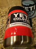 YETI Rambler Colster in Custom Lava Red Gloss