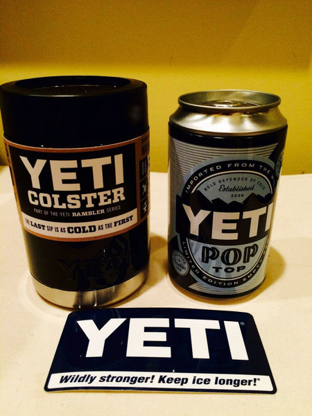 YETI Rambler Colster Can and Bottle Beverage Cooler in Custom Black Gloss - That's My Yeti