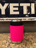 YETI Rambler Colster Bottle/Can Beverage Holder or New Bottle in Custom Hot Pink Satin - That's My Yeti