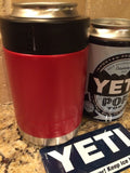 Custom Yeti Colster Can/Bottle Beverage Holder in Satin Cayenne Red - That's My Yeti