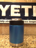 YETI Rambler Colster in Custom Mediterranean Blue Metallic Satin - That's My Yeti