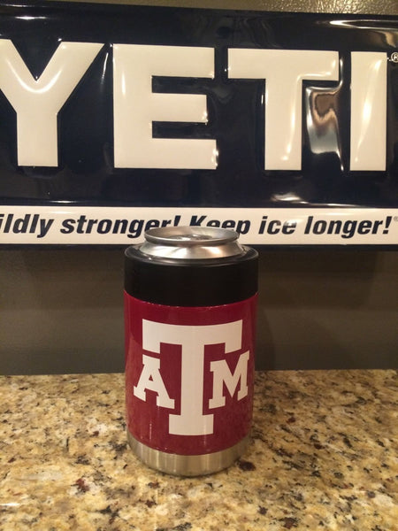 Yeti Colster with Custom TEXAS A&M Logo - That's My Yeti