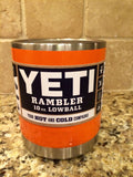 Yeti Rambler Lowball 10oz in Custom Orange Gloss - That's My Yeti
