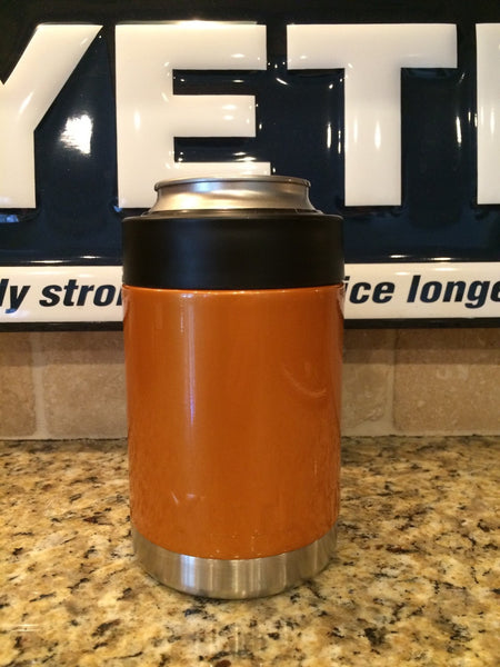 Yeti Rambler Colster in Custom Orange Pearlescent Gloss