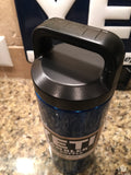 Custom YETI Rambler Bottle Powder Coated in Hot Candy Blue --Amazing! All Sizes available - That's My Yeti
