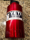 Custom Red YETI Rambler Bottles-Powder Coated Candy Red-All sizes available! - That's My Yeti