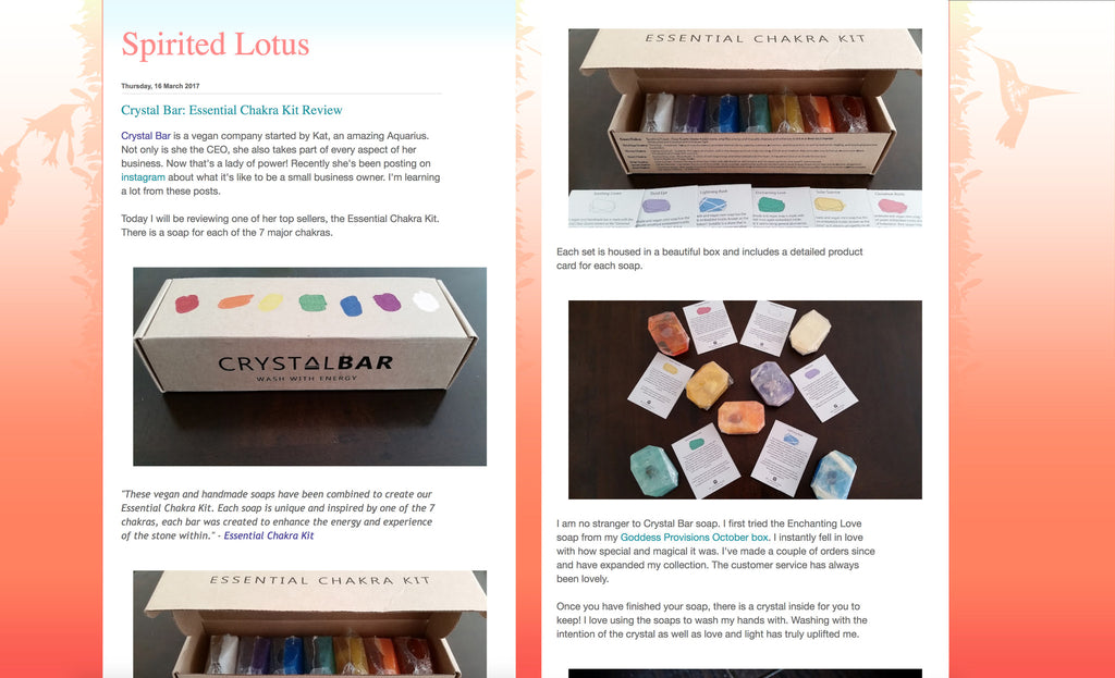 Spirited-Lotus-Crystal Bar-Essential Chakra Kit Review