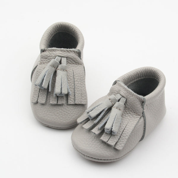 Bedrock toddler/kids fringe moccs