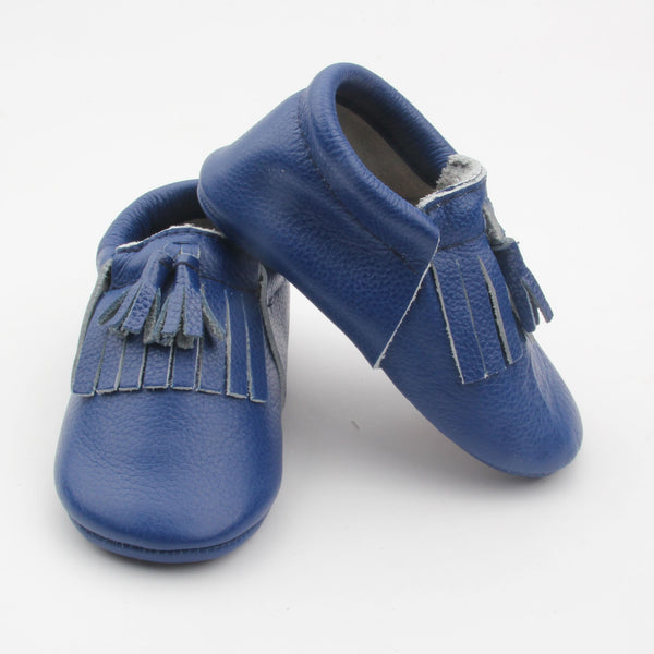 cobalt toddler/kids fringe moccs