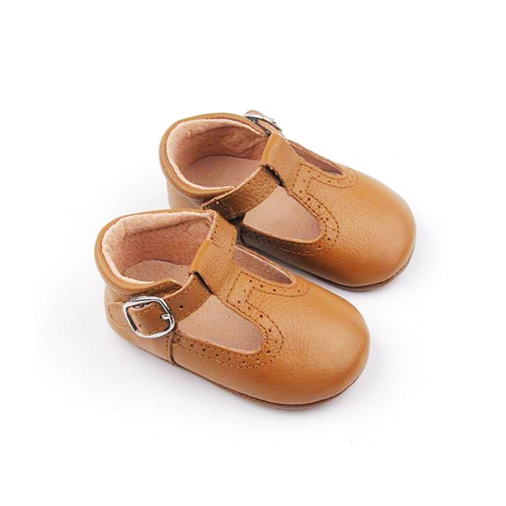 Salted Carmel T-bar Moccs