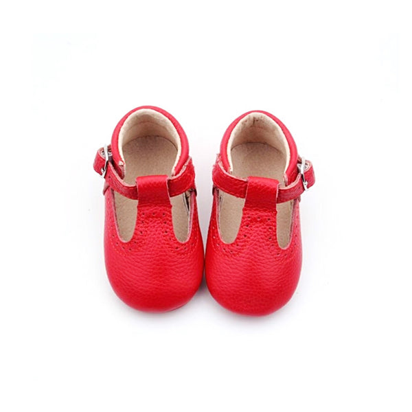 Cherry T-bar Moccs