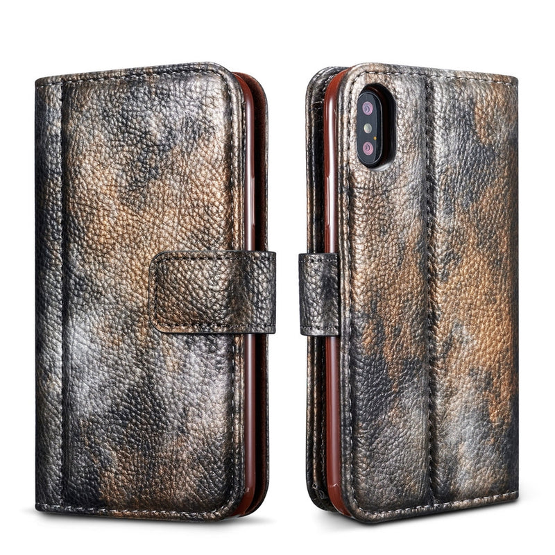 Forest Series Flip PU Leather Case for iPhone X/XS