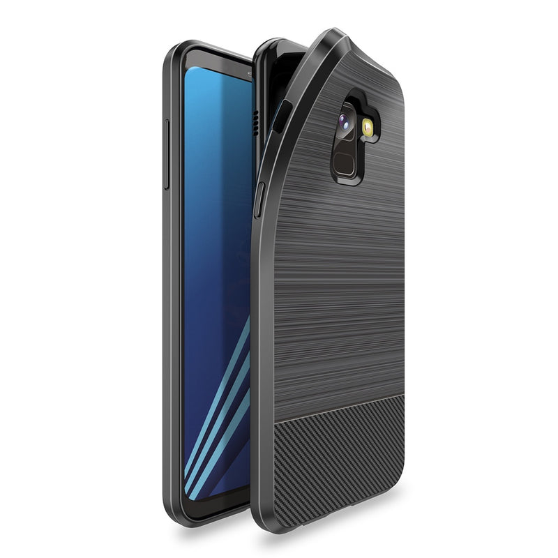 Mojo Series Back Case for Samsung A8+ 2018 - Black
