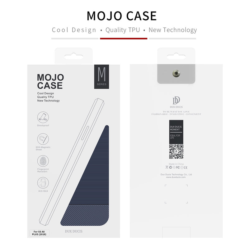 Mojo Series Back Case for Samsung A8 Plus 2018 - Blue CellMart