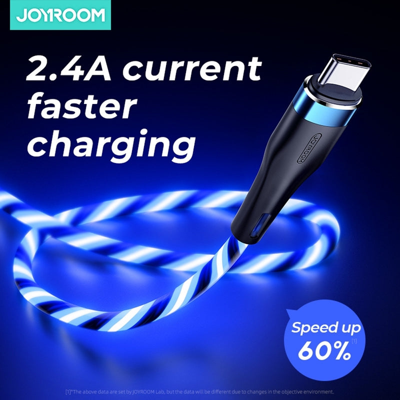 JOYROOM 2.4A Intelligent Light Control Type C Cable