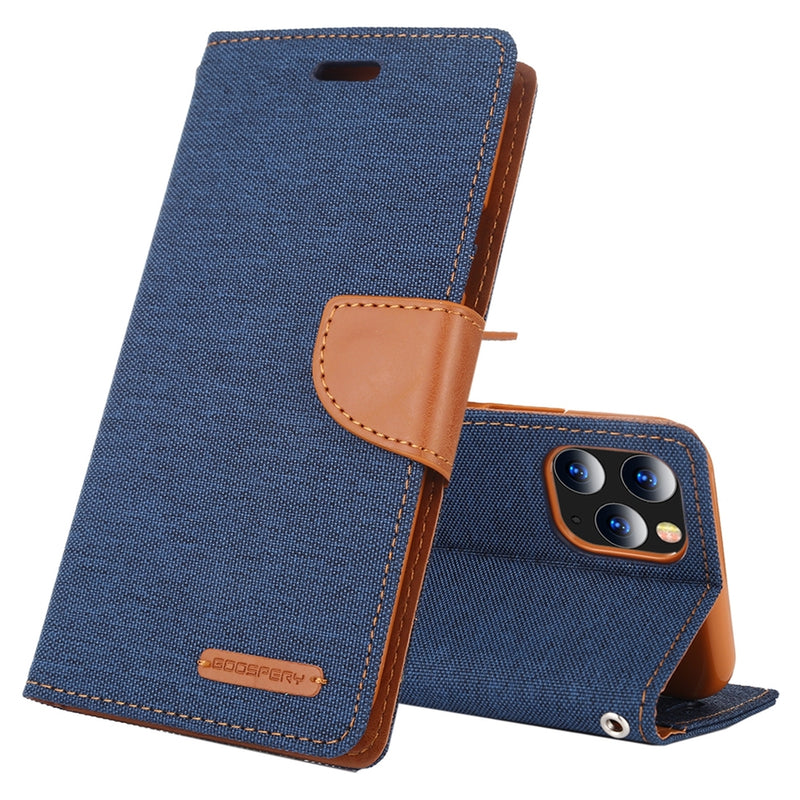 MERCURY GOOSPERY Canvas Diary PU Leather iPhone 12 Pro Max Case