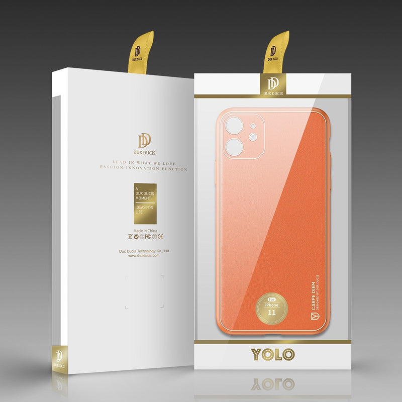 Yolo Series Back TPU, PC, PU Protective iPhone 11 Case