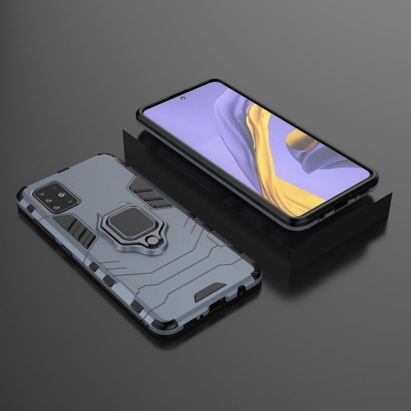 Armor Case w/ Ring Stand & Magnet for Samsung A51 - Grey