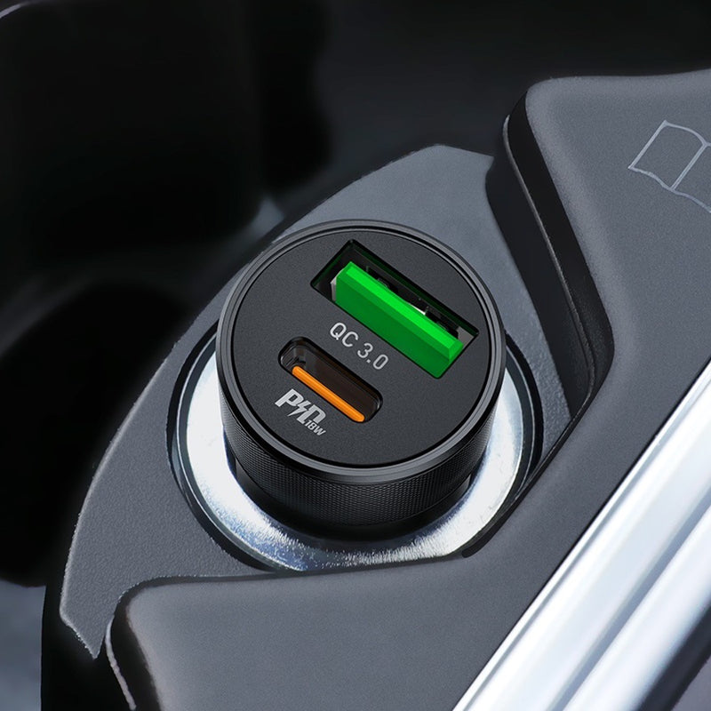 HOCO PD QC3.0 Speed up USB and Type-C output car charger