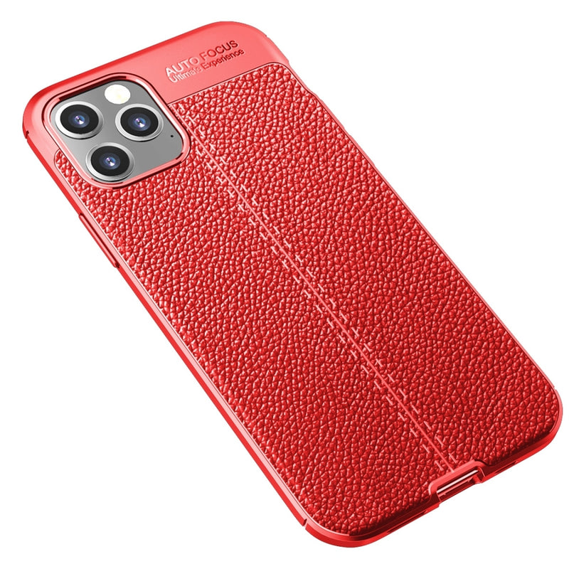 Litchi Texture TPU Protective iPhone 12 Pro/iPhone 12 Case