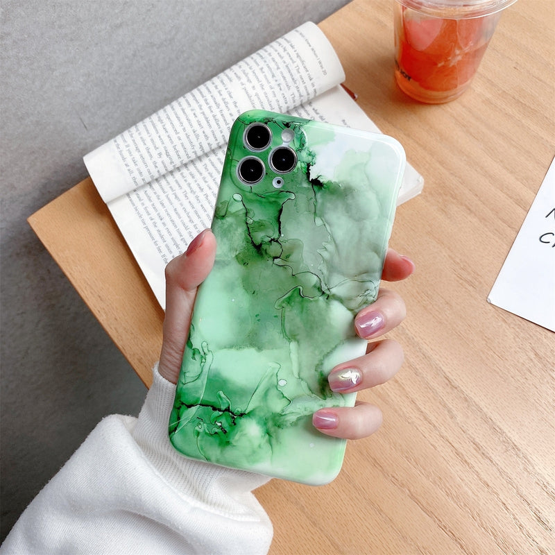 Glossy Marble Pattern TPU Protective iPhone 12 Mini Case